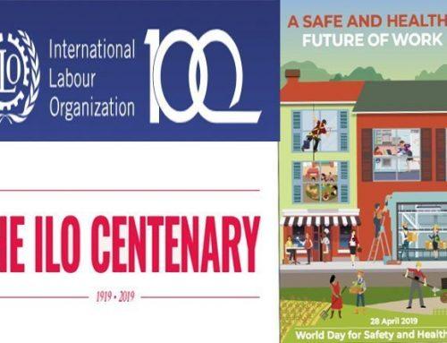 Międzynarodowy dzień bezpieczeństwa w pracy i 100 lecie MOP